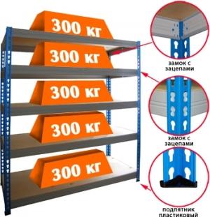 Стеллаж металлический складской 18505-2,0 купить на выгодных условиях в Пензе